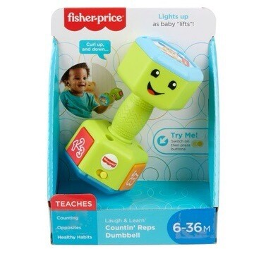 Fisher Price Laugh & Learn Dumbbell