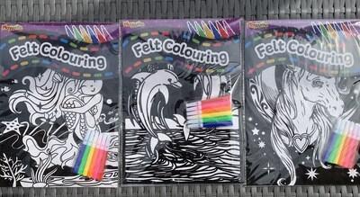 Felt Colouring (3 Designs 🧜🏻♀️🦄🐬)