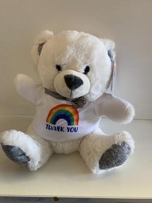 "10"" White Thank You Bear"