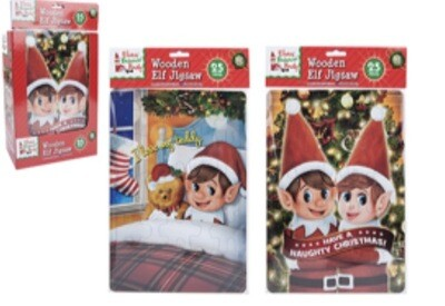 25pc Elf Puzzle Assorted Designs