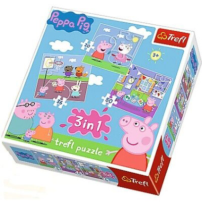 3 In 1 Peppa Pig Puzzle