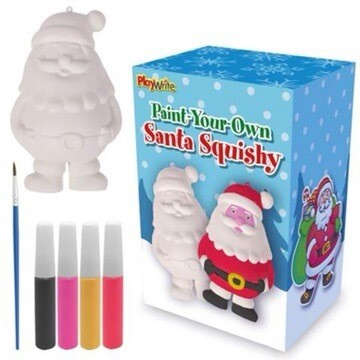 Paint Your Own Squishy Santa