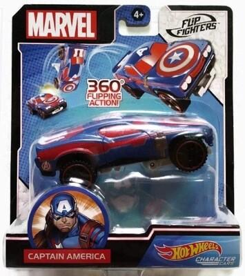 Hot Wheels Captain America Flip Fighter