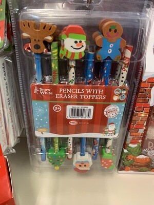 Christmas Pencils 6pk