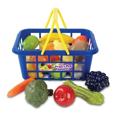 Casdon Shopping Basket With Play Food