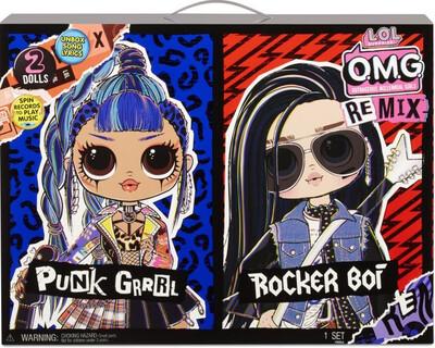 Lol Surprise OMG 2pk Punk Grrrll & Rocker Boi
