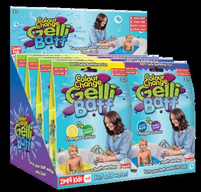 Colour Change Gelli Baff Ballistic Blue To Planet Purple