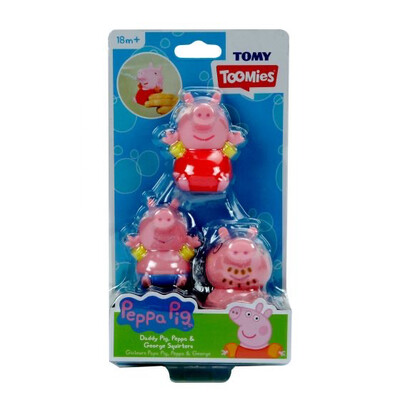 Daddy Pig & family Bath Squirters