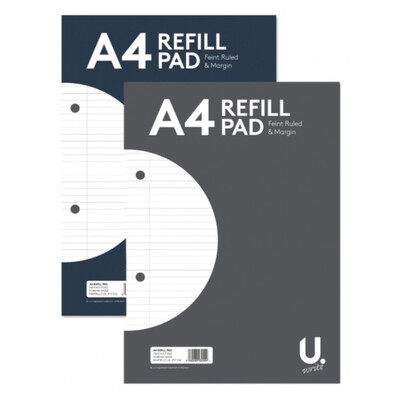A4 Lined Paper Refill Pad
