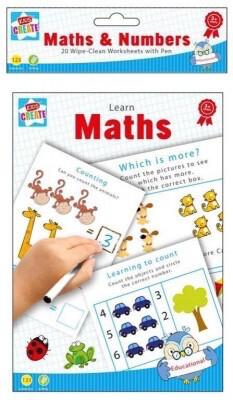 A5 Wipe Clean Learn Maths