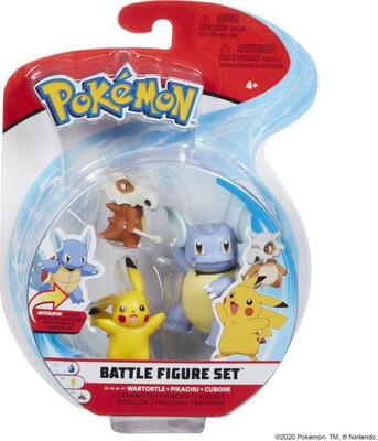 Pokemon Cubone Pikachu & Wartortle