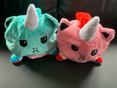 Pink/aqua Unicorn Reversible