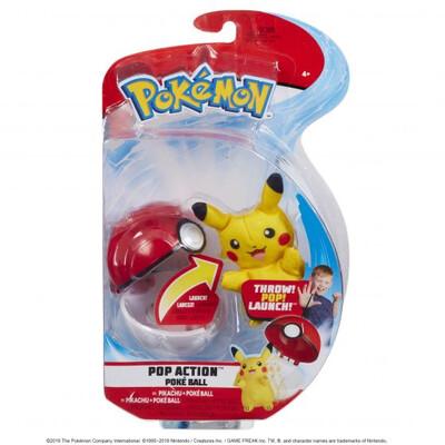 Pokemon Pop Action Poke Ball - Pikachu