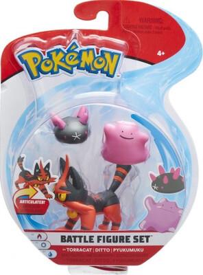 Torracat Ditto Pyukumuya Pokemon Figure