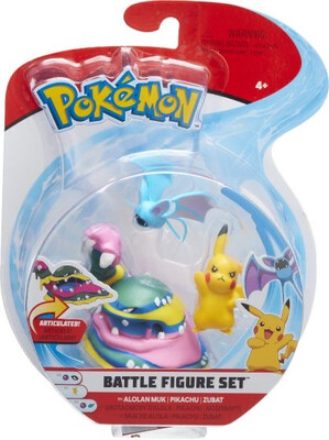 Alolan Muk, Pikachu & Zubat Pokemon Figures