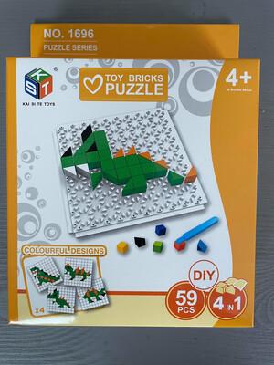 Dinosaur Bricks Puzzle