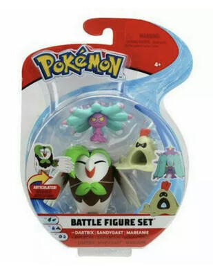 Pokemon Dartrix Sandygast & Mareanie