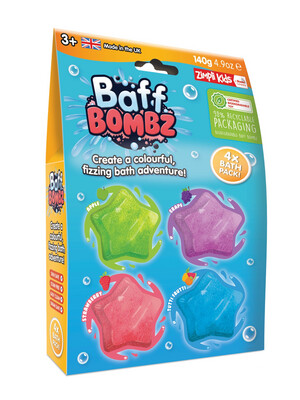 4pk Star Baff Bombs Scented