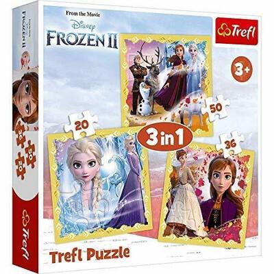 Frozen 3 In 1 Puzzle