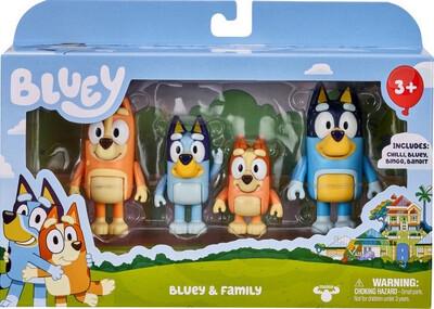 Bluey & Family 4 Figure Pack