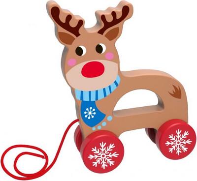 Pull Along Wooden Reindeer