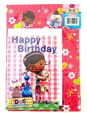 Doc McStuffins Wrapping Paper and Card
