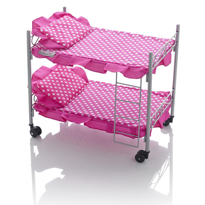 Molly dolly Bunk Bed (pink and white spots)