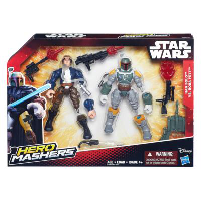 Star Wars Hero Mashers Han Solo vs Boba Fett