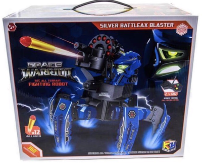 Space warrior silver battleax Blaster