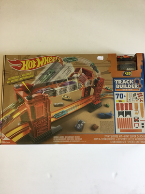 Hot wheels track builder system stunt bridge kit