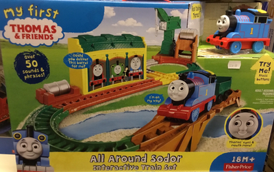 My first Thomas and friends all around sodor interactive train set