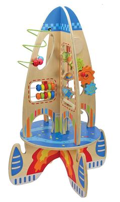 Wooden activity rocket