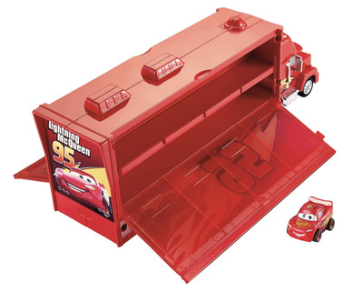 Disney Cars Mini Racers Mac Truck Transporter