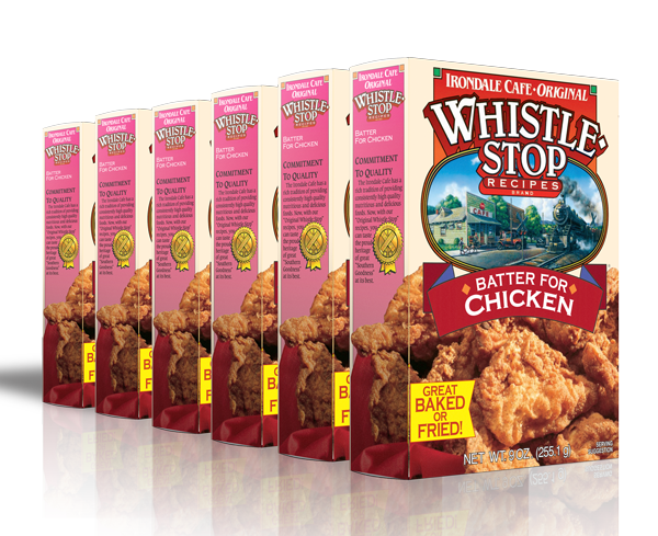 Original WhistleStop Cafe Recipes | Batter Mix for Chicken | 9-oz | 6 Pack