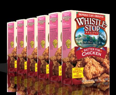 Original WhistleStop Cafe Recipes | Batter Mix for Chicken | 9-oz | 6 Pack