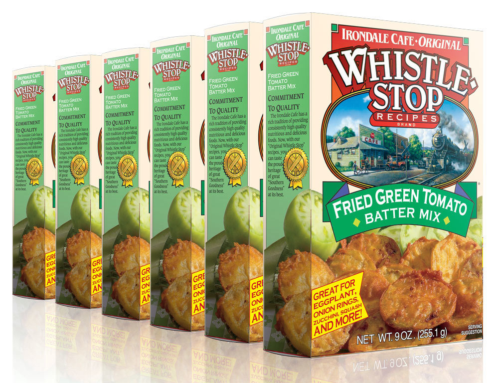 Original WhistleStop Cafe Recipes | Fried Green Tomato Batter Mix | 9-oz | 6 Pack