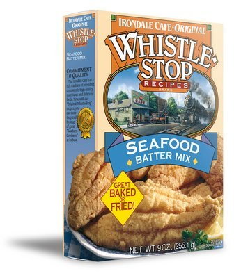 Original WhistleStop Cafe Recipes | Seafood Batter Mix | 9-oz | 1 Box