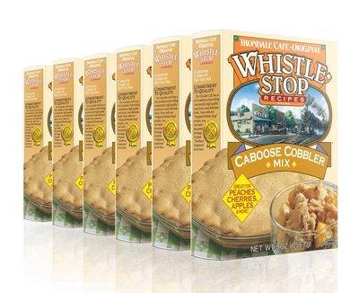 Original WhistleStop Cafe Recipes | Caboose Cobbler Batter Mix | 9-oz | 6 Pack