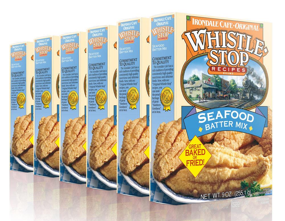 Original WhistleStop Cafe Recipes | Seafood Batter Mix | 9-oz | 6 Pack