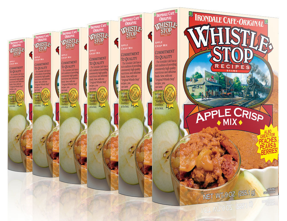 Original WhistleStop Cafe Recipes | Apple Crisp Batter Mix | 9-oz | 6 Pack