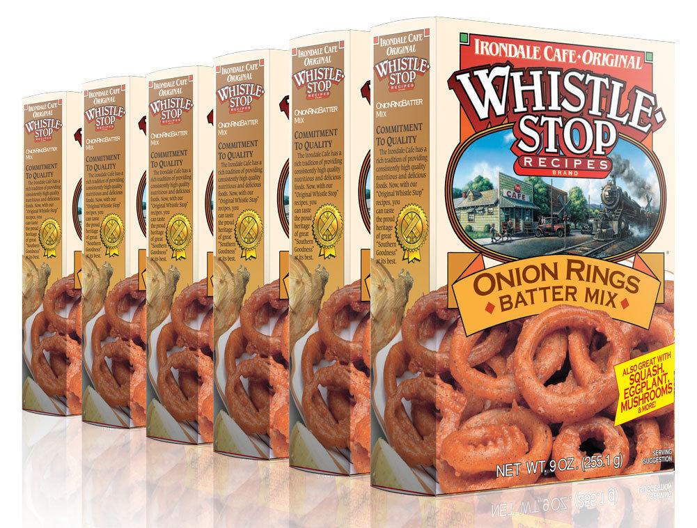 Original WhistleStop Cafe Recipes | Onion Ring Batter Mix | 9-oz | 6 Pack