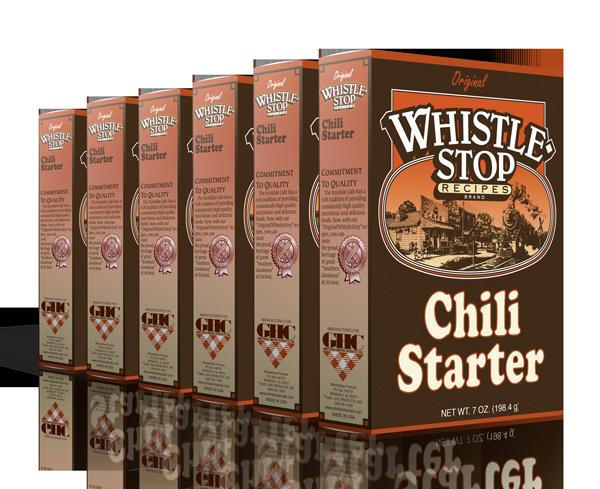 Original WhistleStop Cafe Recipes | Chili Starter Mix | 5-oz | 6 Pack