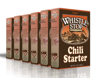 Original WhistleStop Cafe Recipes | Chili Starter Mix | 5-oz | 6 Pack