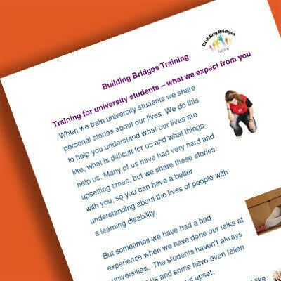 Student Charter (for involving people with a learning disability in teaching) (Ref No: 00017)