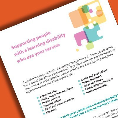 Supporting People with a Learning Disability Who Use Your Service (Ref No: 00010)