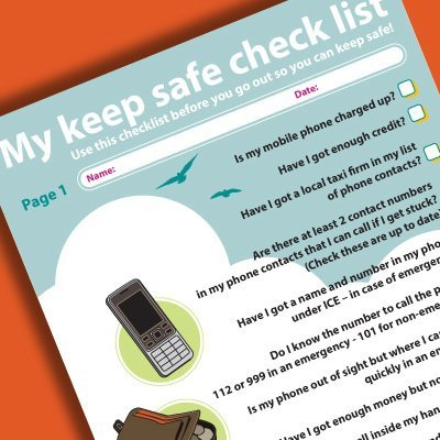 My Keep Safe Check List (Ref No: 00001)