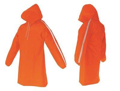AllWeatherWare (1-Piece) Waterproof Breathable Lightweight Rain Poncho - Orange
