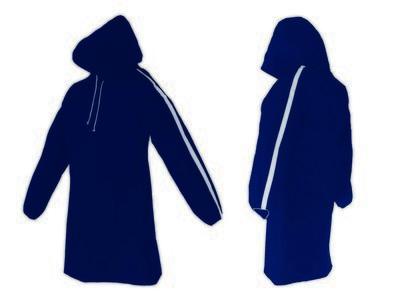 AllWeatherWare (1-Piece) Waterproof Breathable Lightweight Rain Poncho - Blue