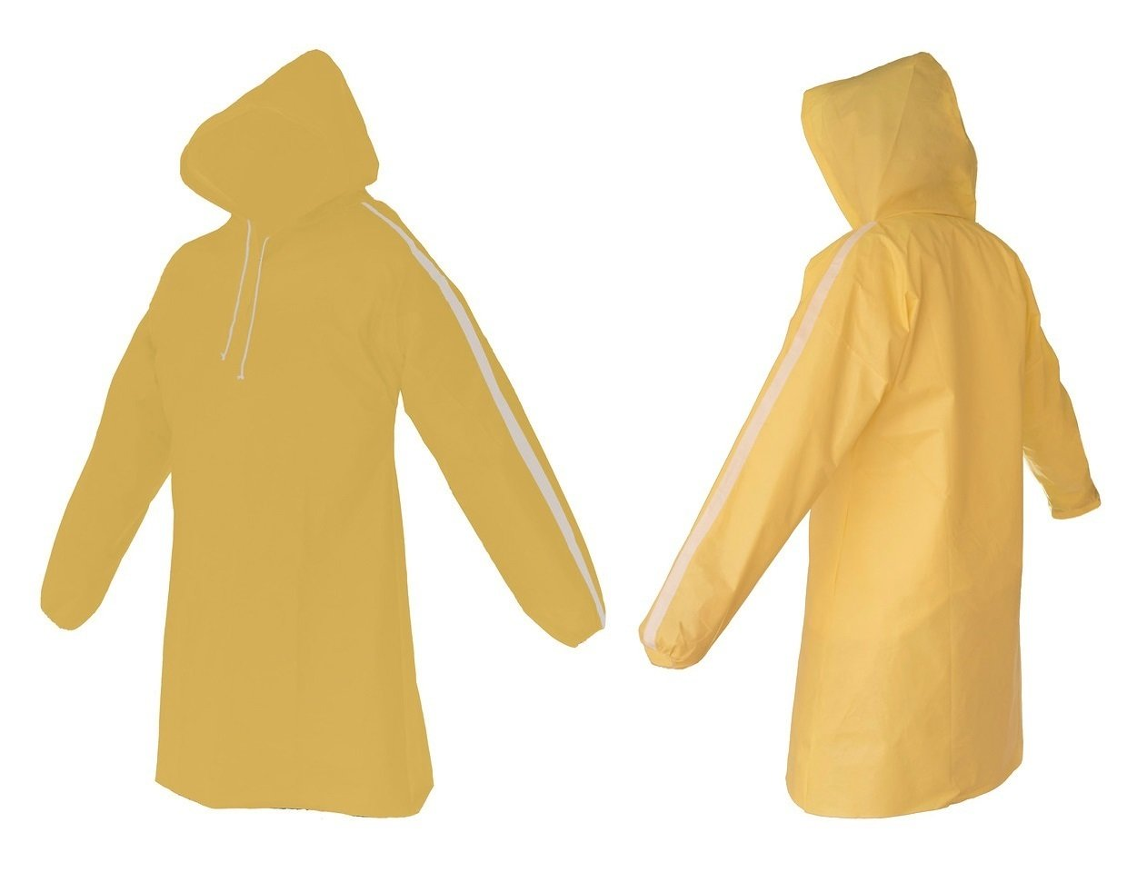 AllWeatherWare (1-Piece) Waterproof Breathable Lightweight Rain Poncho - Yellow