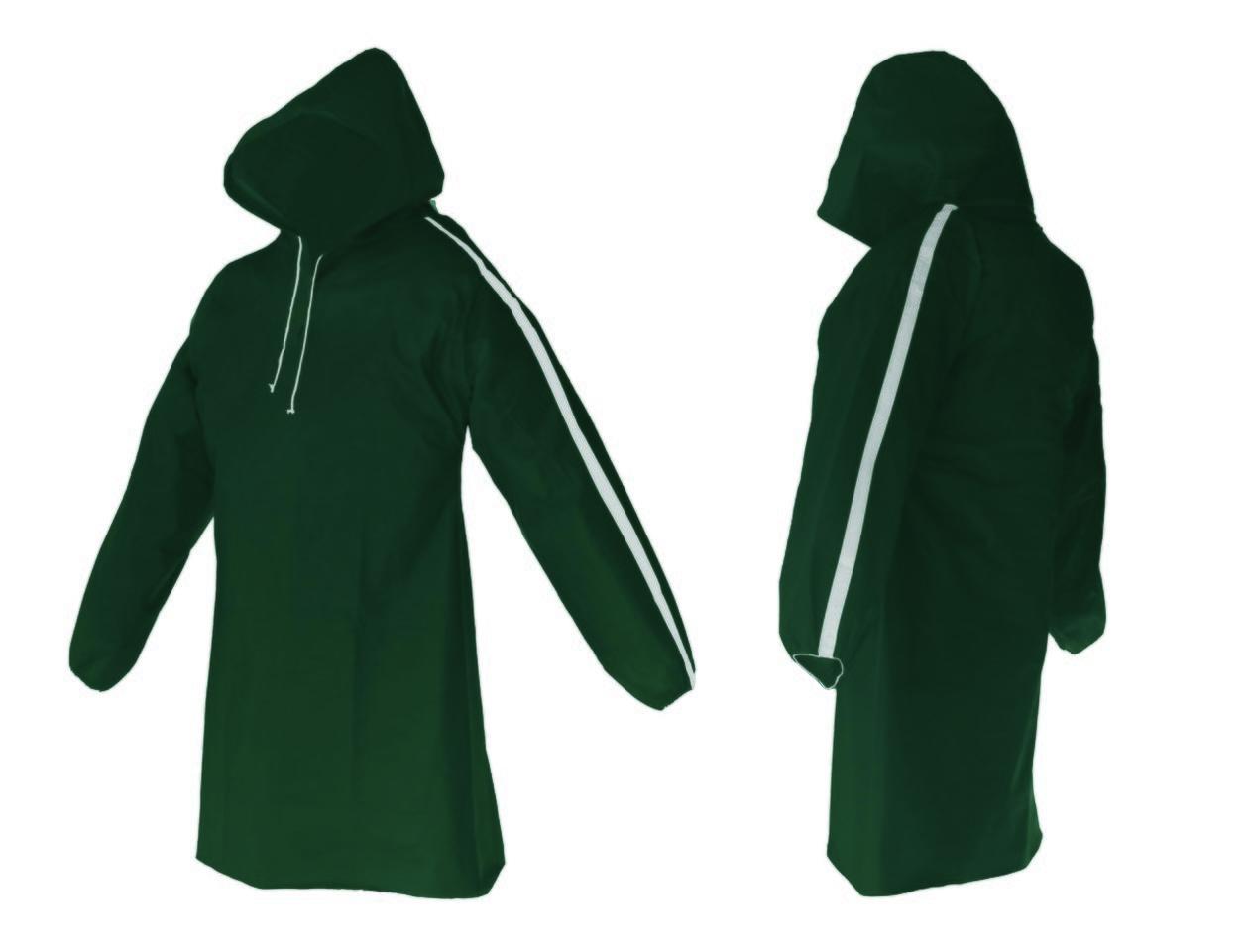 AllWeatherWare (1-Piece) Waterproof Breathable Lightweight Rain Poncho - Green